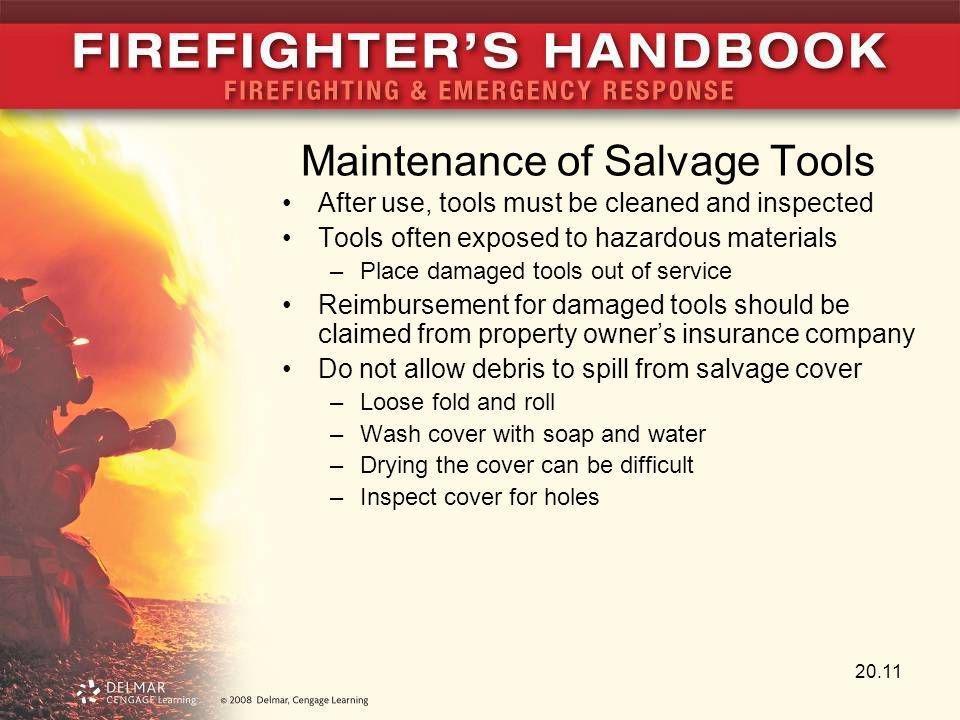 Maintenance of Salvage Tools