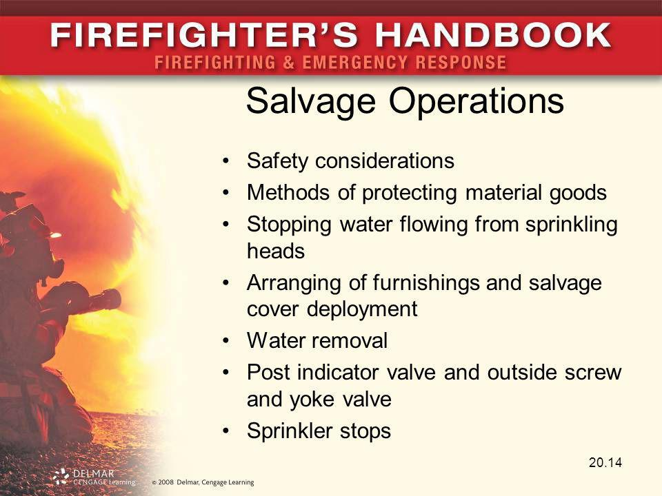 Salvage Operations Safety considerations