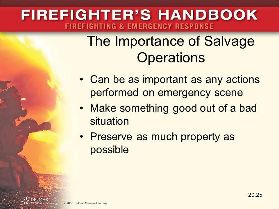 The Importance of Salvage Operations