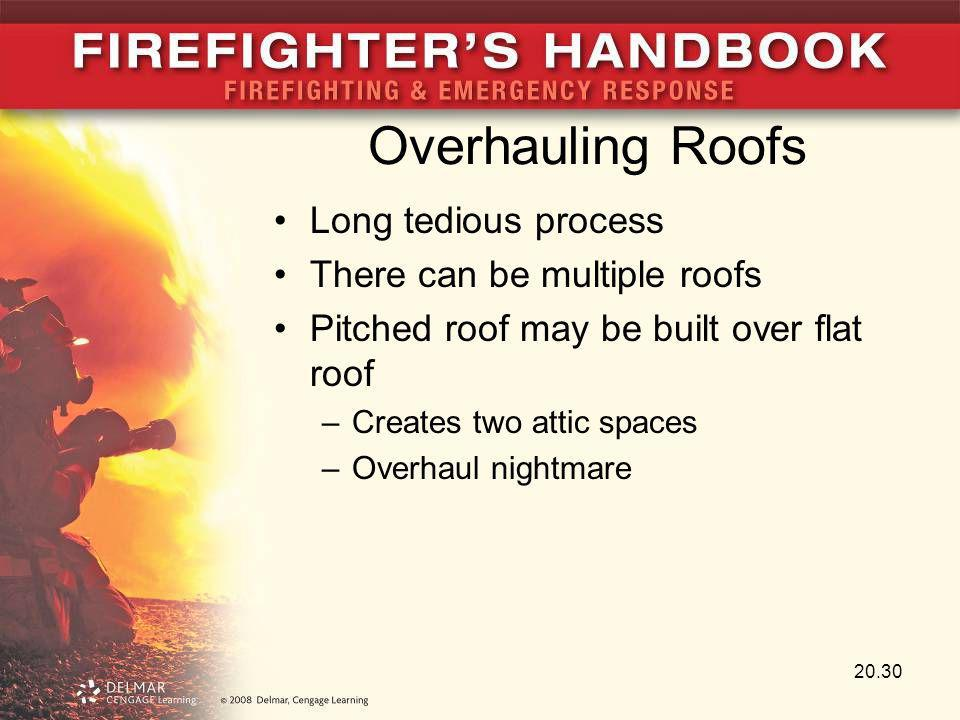 Overhauling Roofs Long tedious process There can be multiple roofs