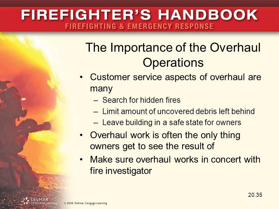 The Importance of the Overhaul Operations