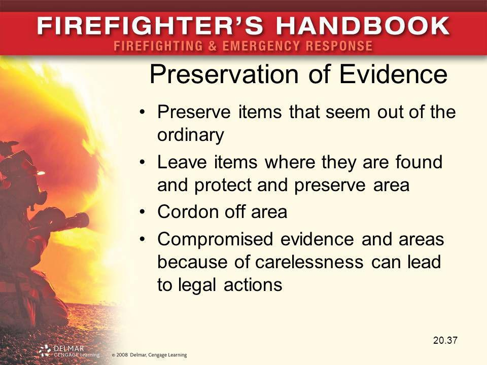 Preservation of Evidence