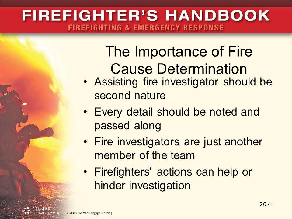 The Importance of Fire Cause Determination