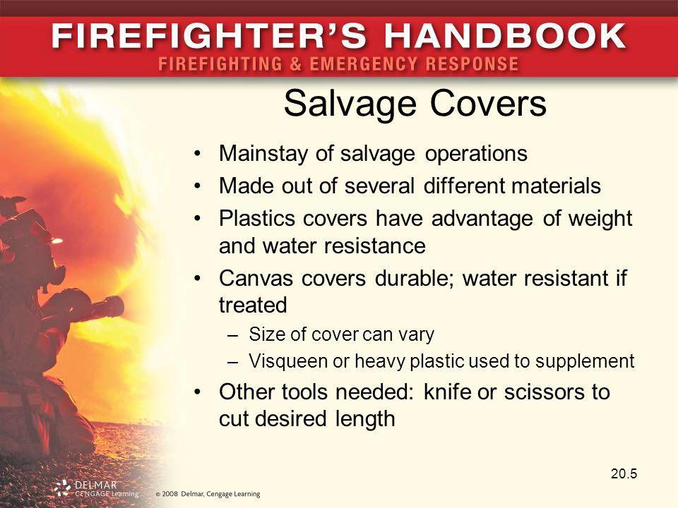 Salvage Covers Mainstay of salvage operations