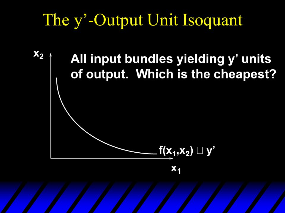The y'-Output Unit Isoquant