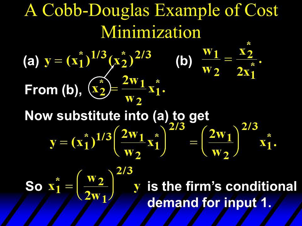 A Cobb-Douglas Example of Cost Minimization