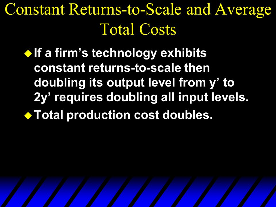 Constant Returns-to-Scale and Average Total Costs