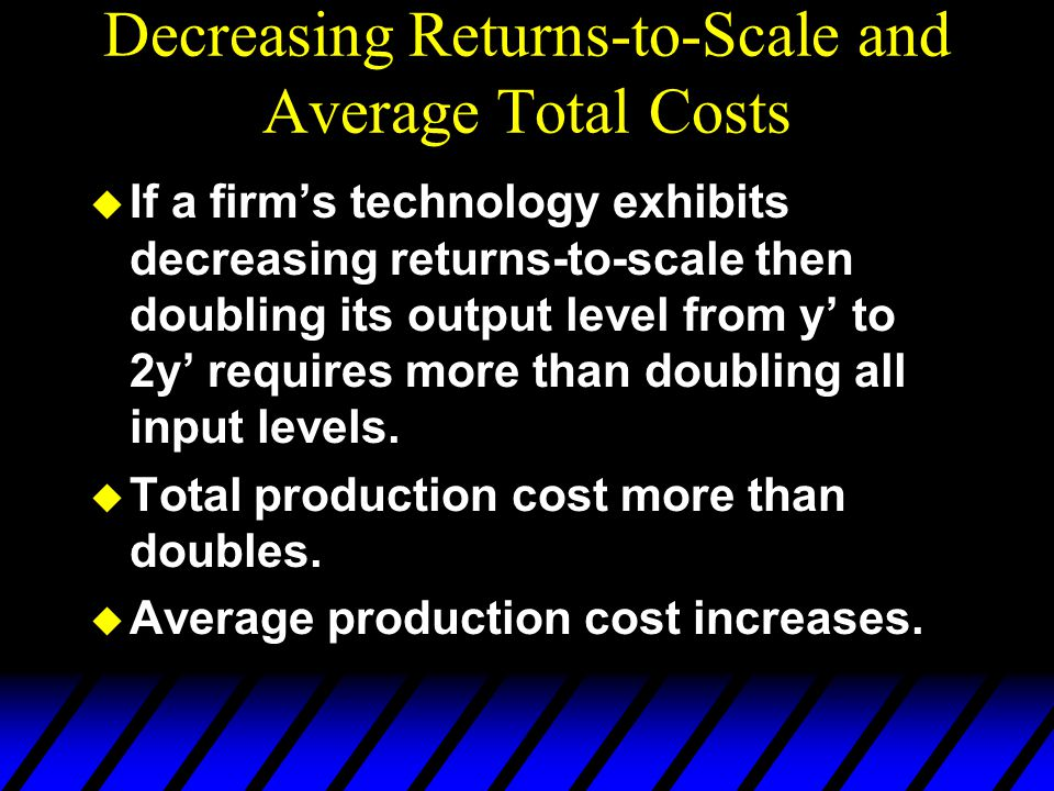 Decreasing Returns-to-Scale and Average Total Costs