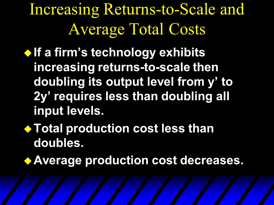 Increasing Returns-to-Scale and Average Total Costs