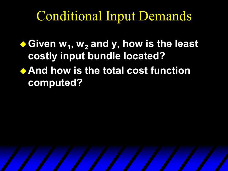 Conditional Input Demands