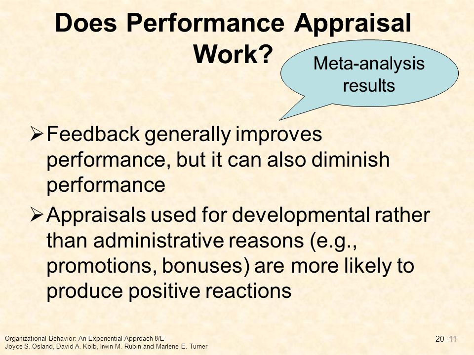 Does Performance Appraisal Work