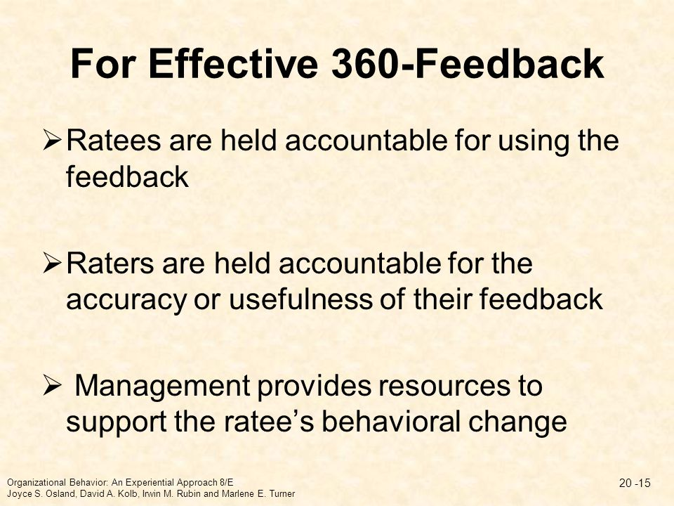 For Effective 360-Feedback