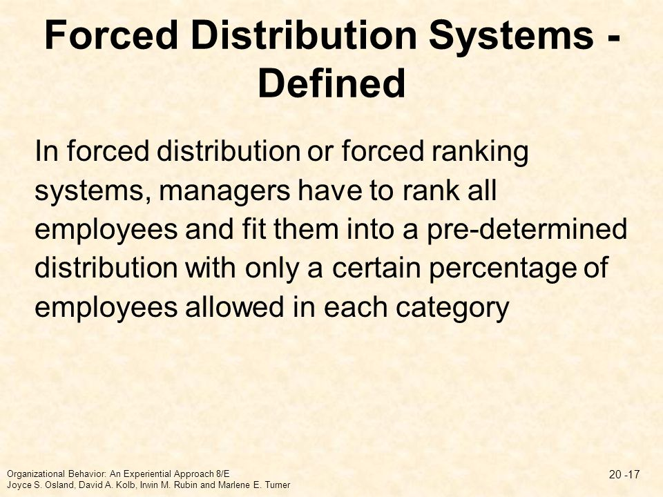 Forced Distribution Systems - Defined