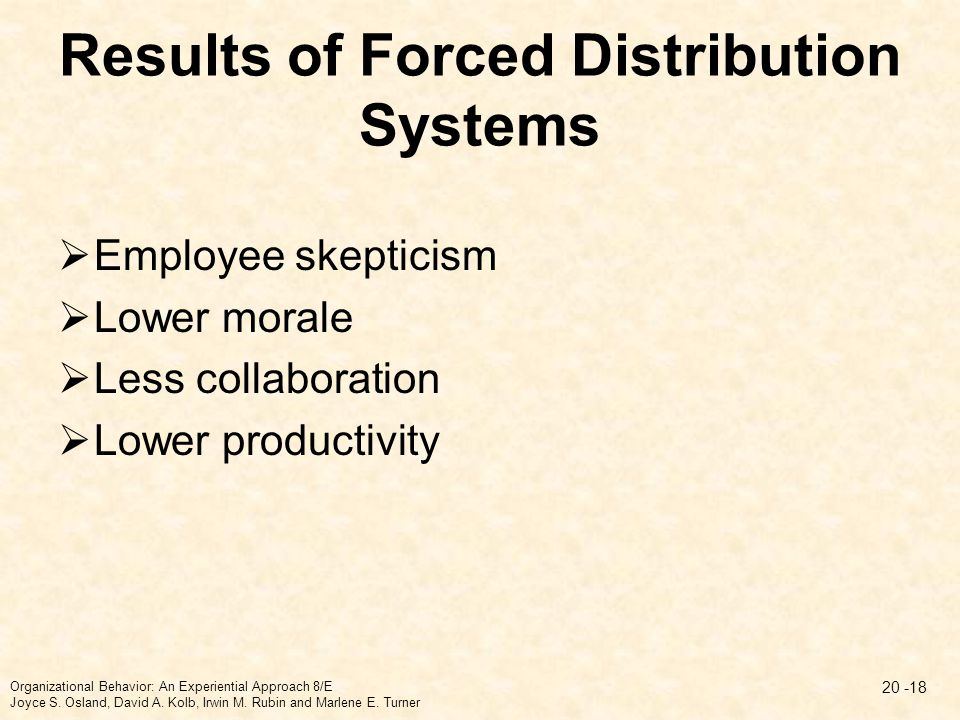 Results of Forced Distribution Systems