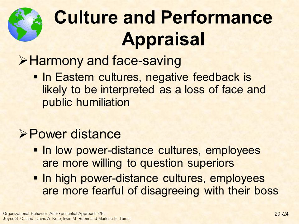 Culture and Performance Appraisal