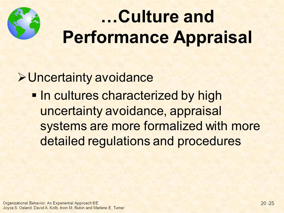 …Culture and Performance Appraisal