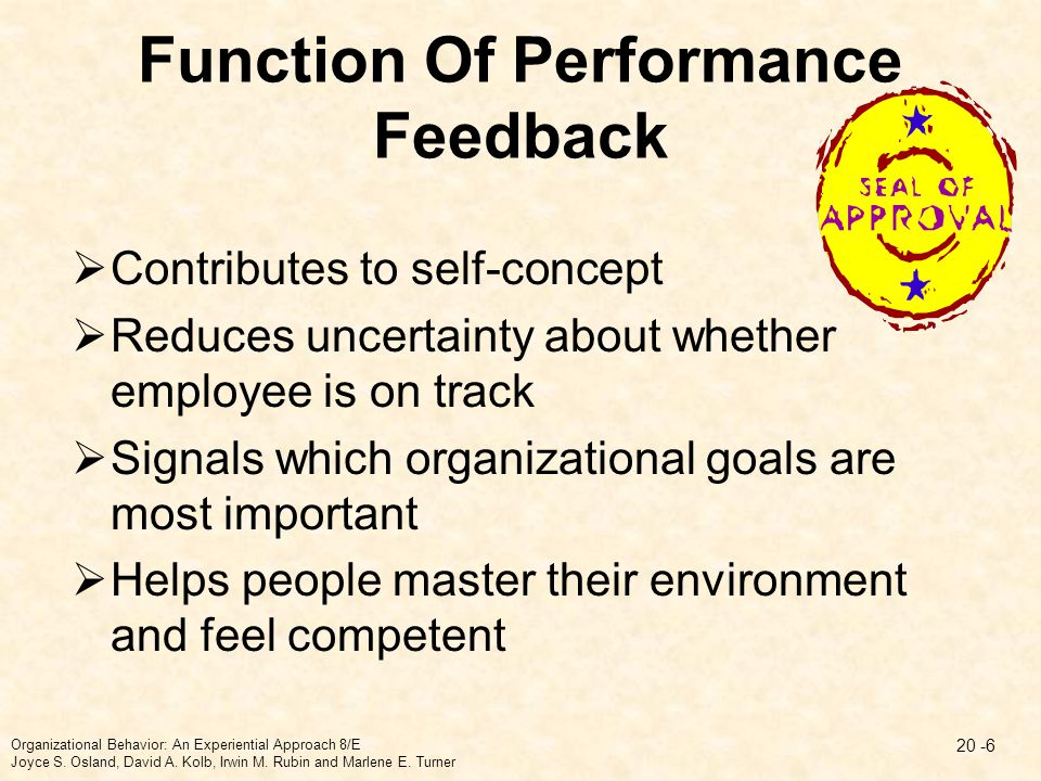 Function Of Performance Feedback