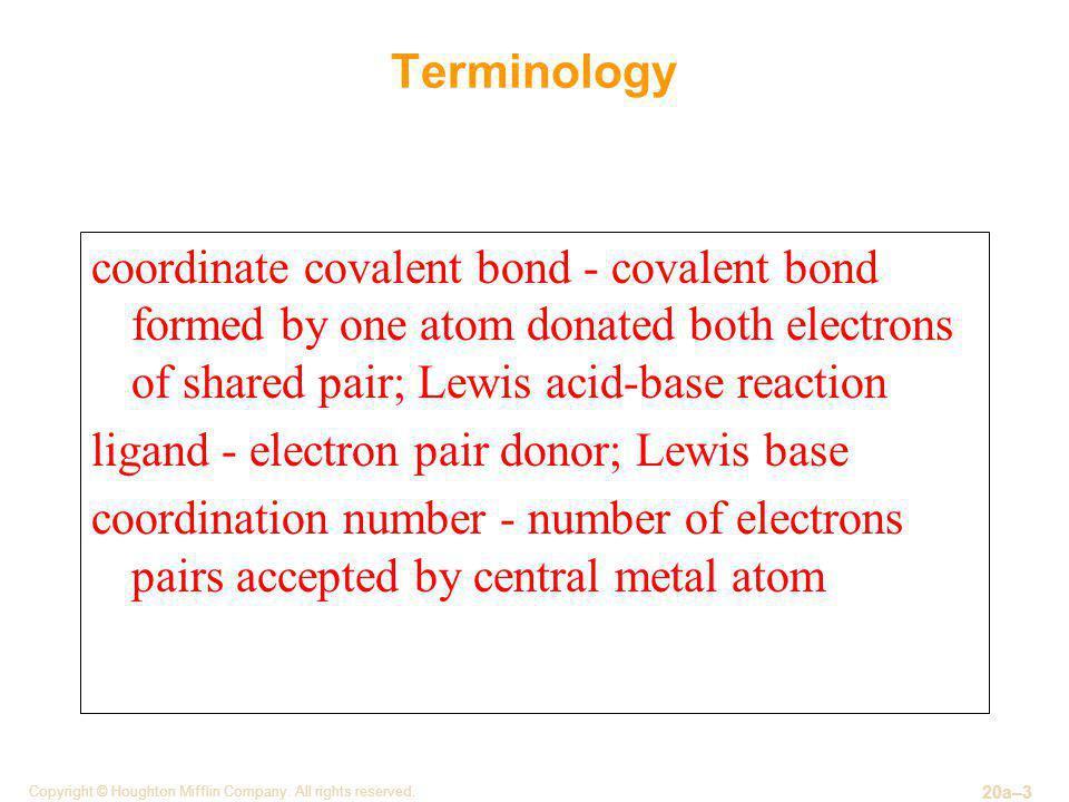 ligand - electron pair donor; Lewis base
