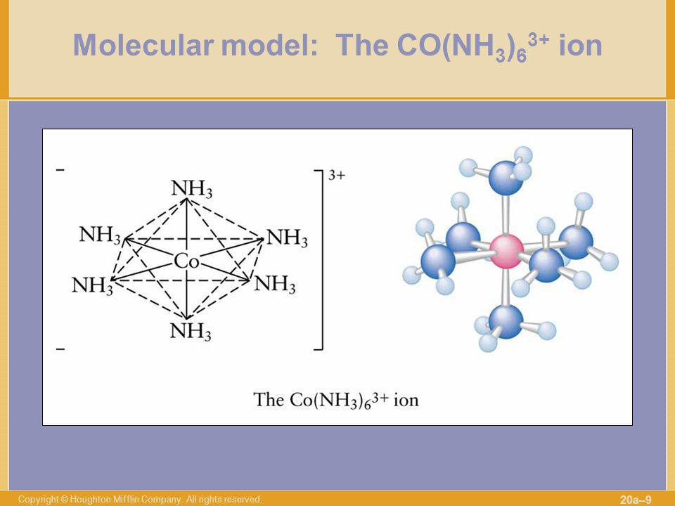 Molecular model: The CO(NH3)63+ ion