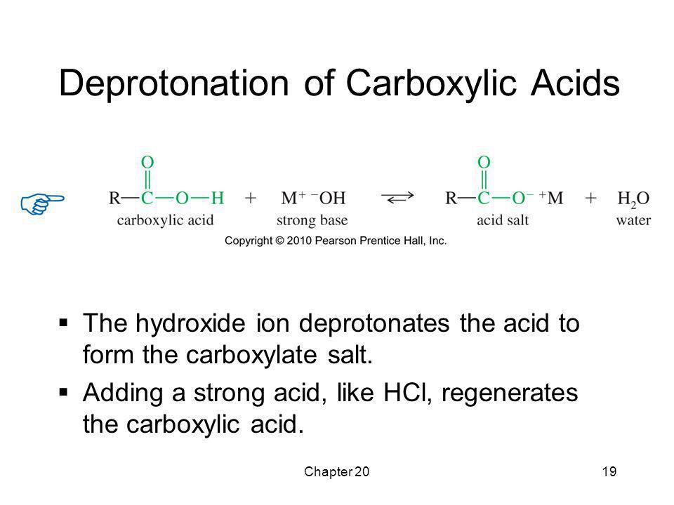 Deprotonation of Carboxylic Acids