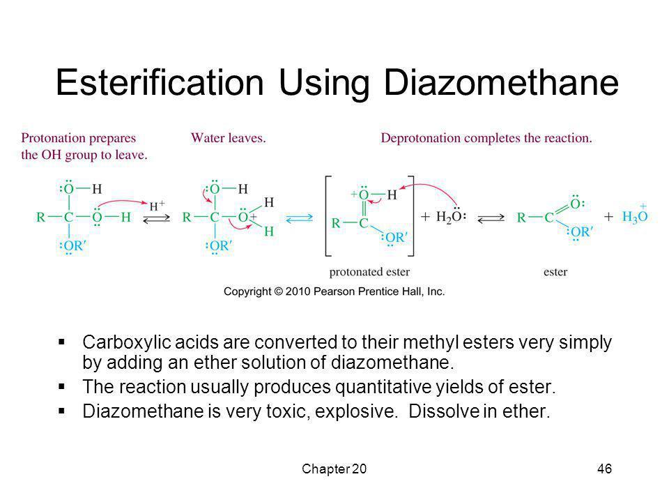 Esterification Using Diazomethane