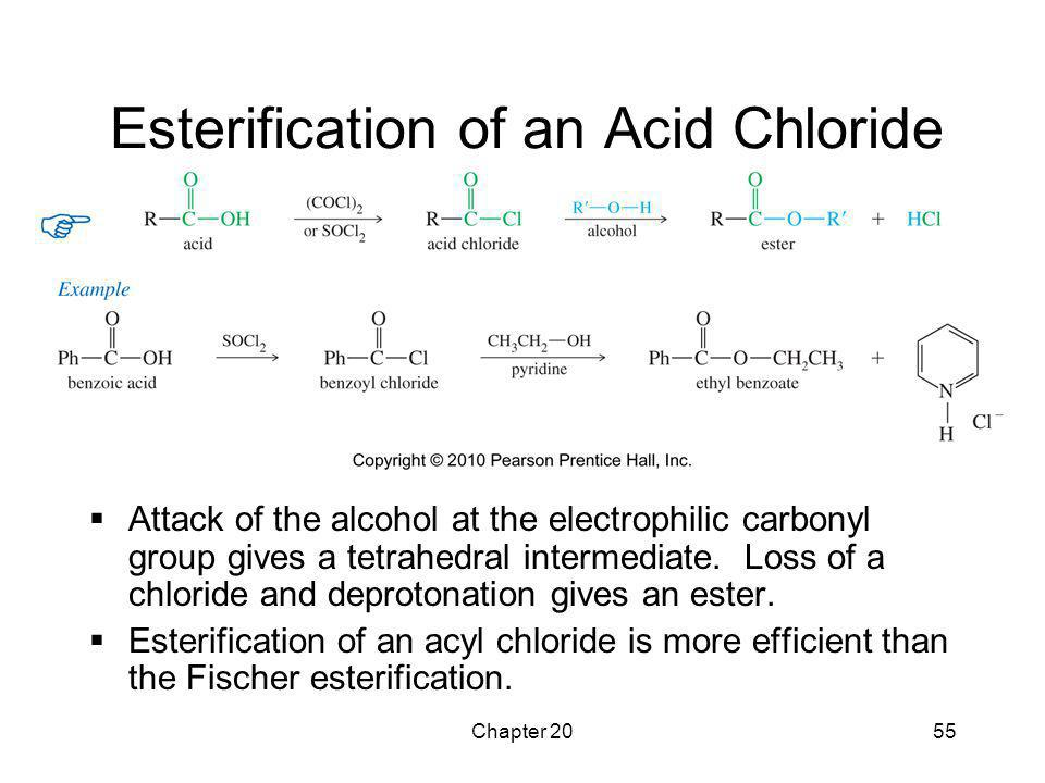 Esterification of an Acid Chloride