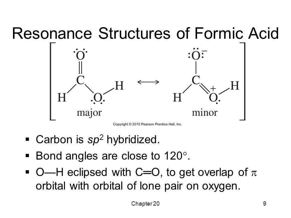 Resonance Structures of Formic Acid