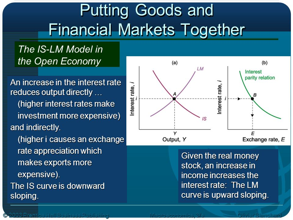 Putting Goods and Financial Markets Together