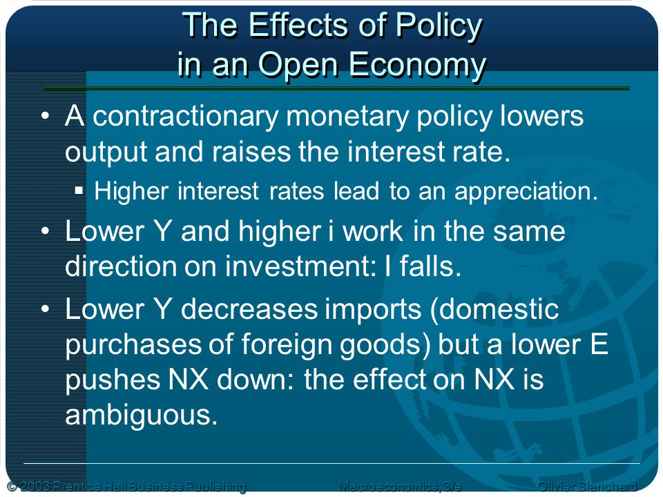 The Effects of Policy in an Open Economy