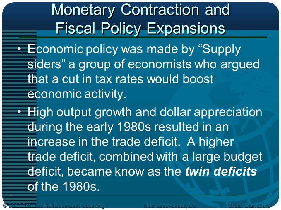 Monetary Contraction and Fiscal Policy Expansions
