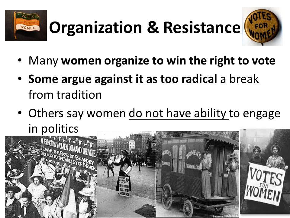 Organization & Resistance