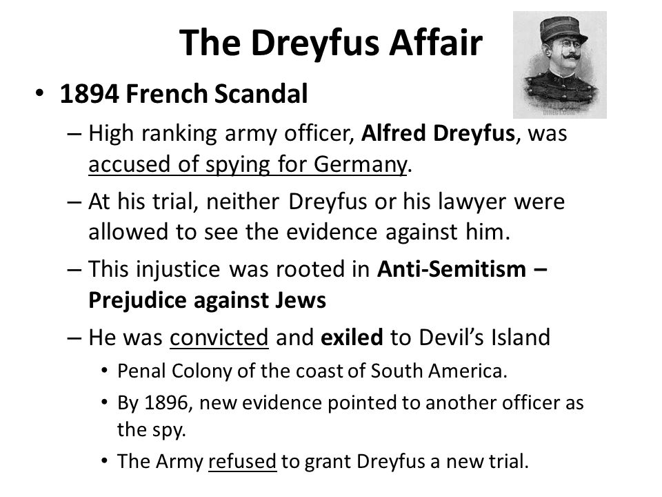 The Dreyfus Affair 1894 French Scandal