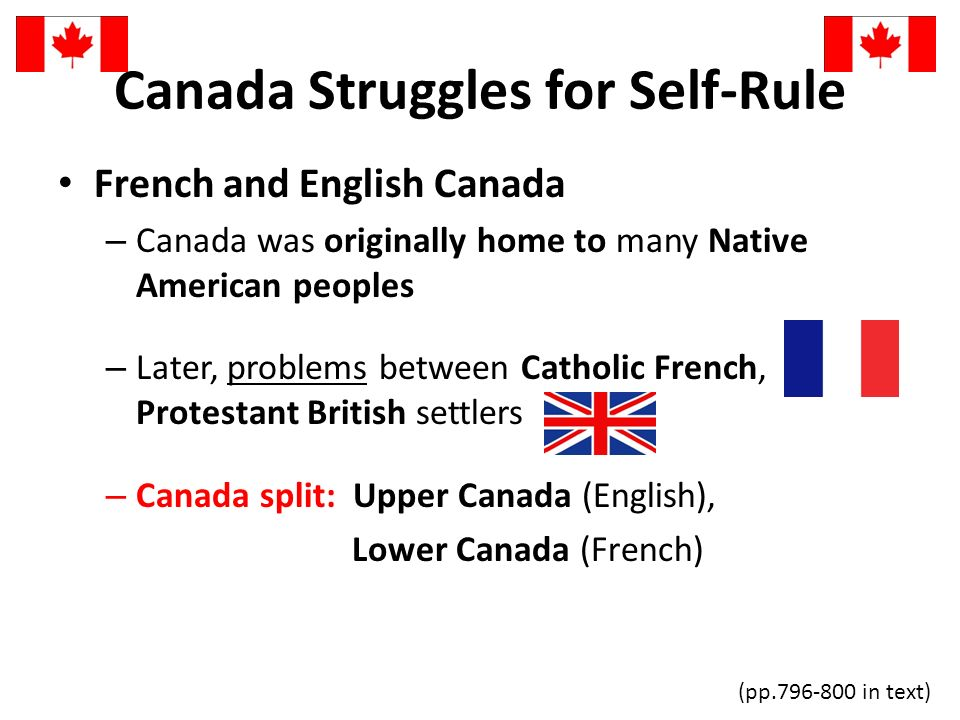 Canada Struggles for Self-Rule