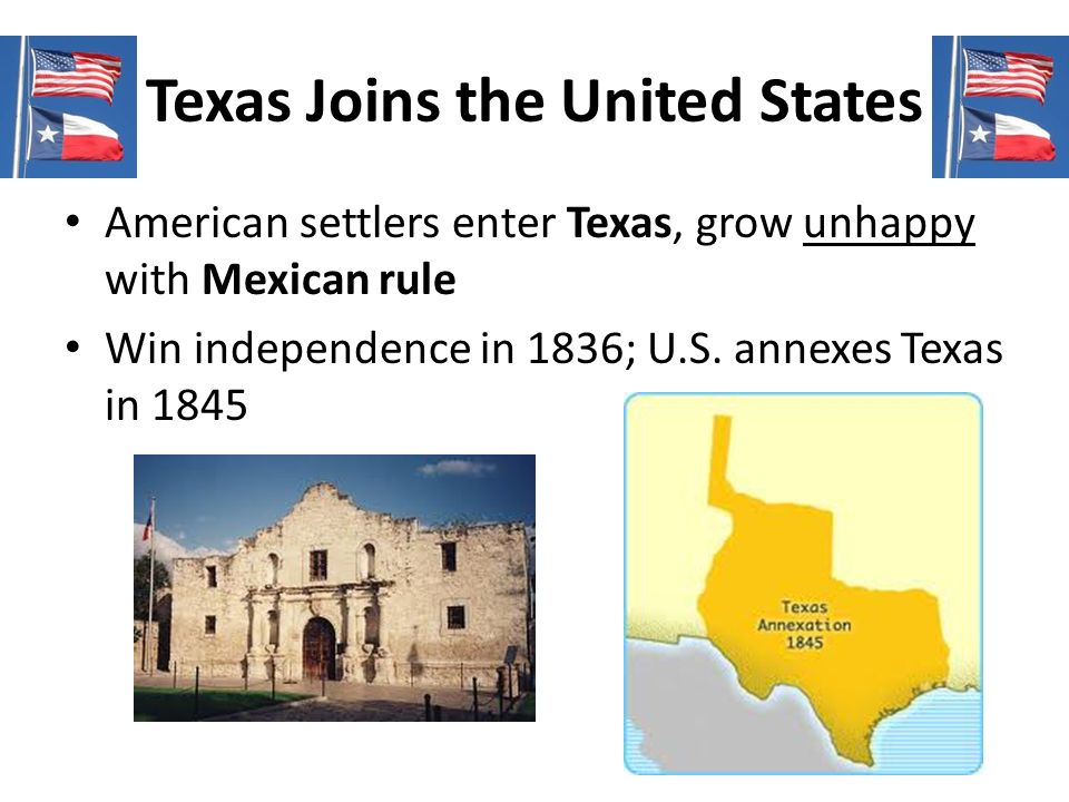Texas Joins the United States