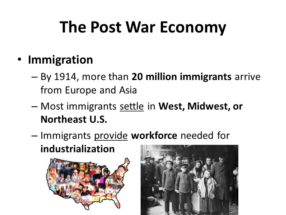 The Post War Economy Immigration