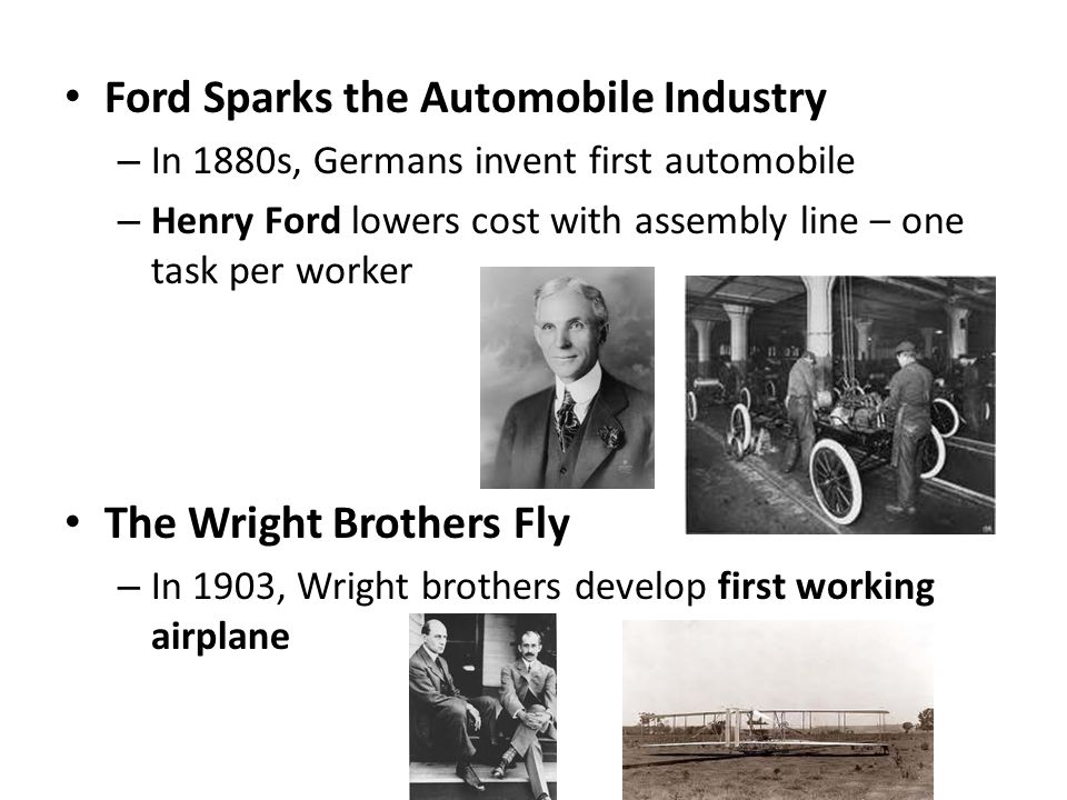 Ford Sparks the Automobile Industry