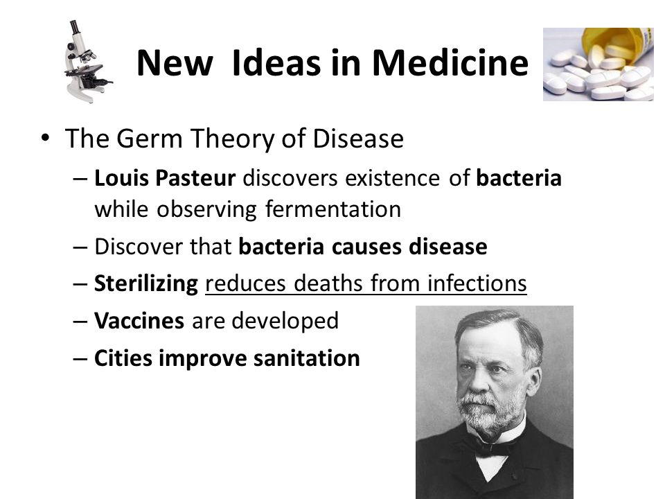 New Ideas in Medicine The Germ Theory of Disease