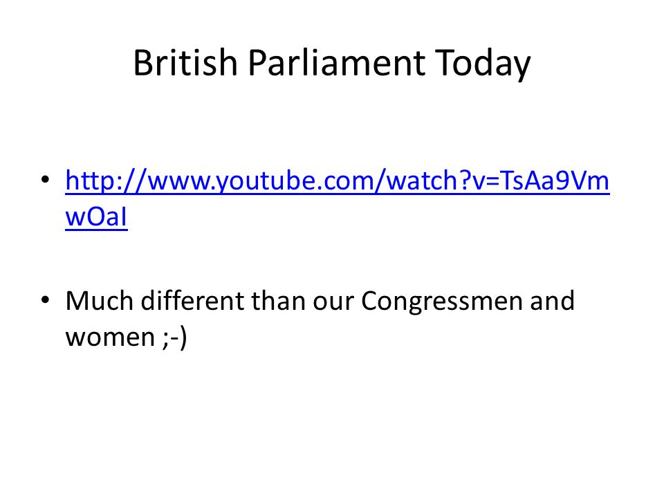 British Parliament Today