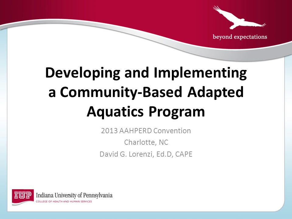Developing and Implementing a Community-Based Adapted Aquatics Program