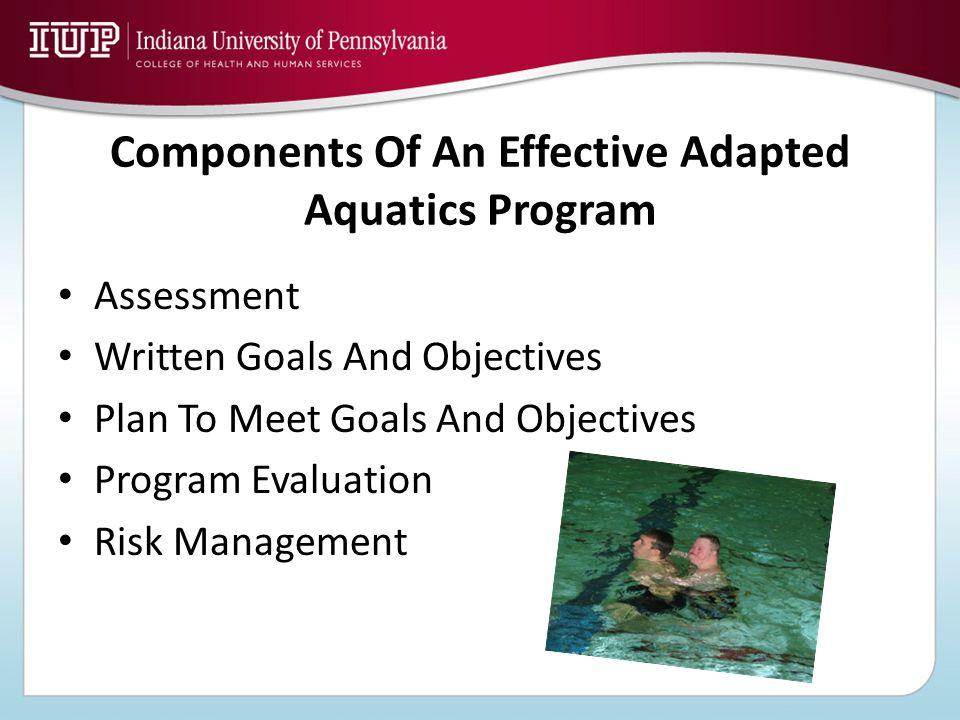 Components Of An Effective Adapted Aquatics Program
