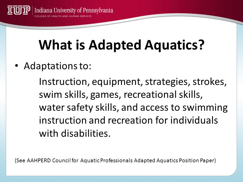 What is Adapted Aquatics