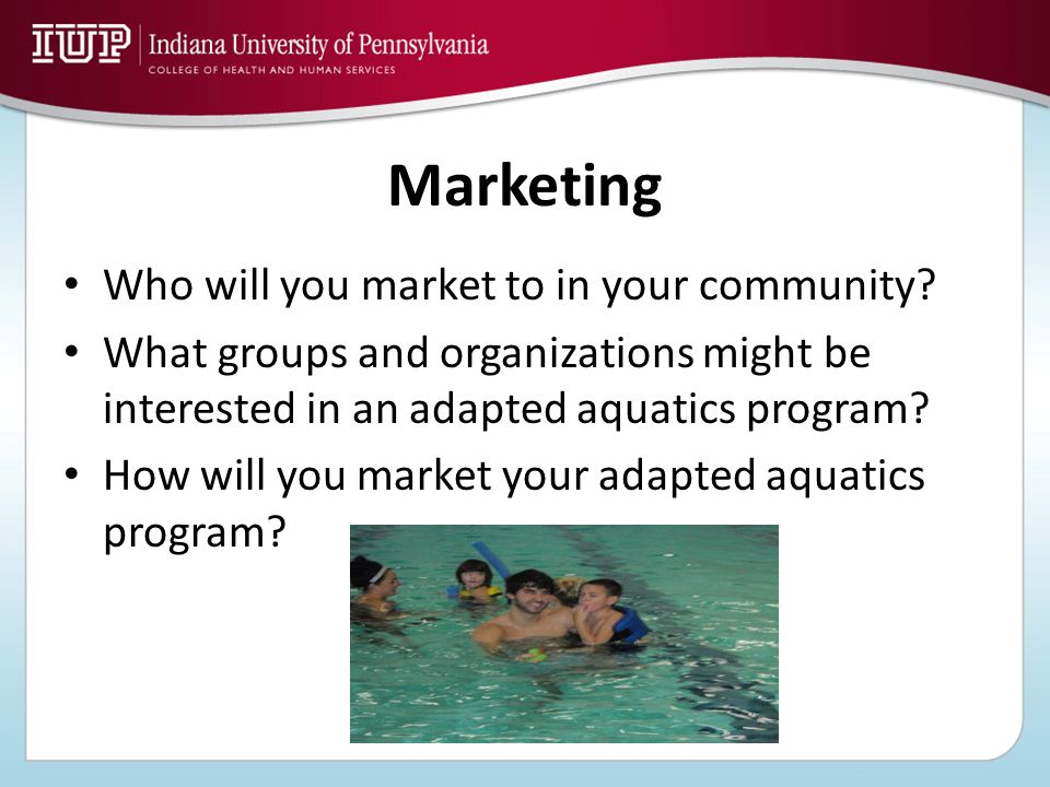 Marketing Who will you market to in your community