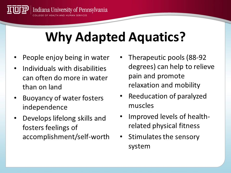 Why Adapted Aquatics People enjoy being in water