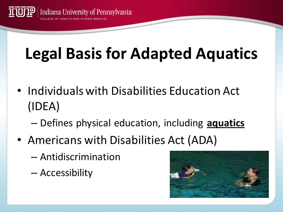 Legal Basis for Adapted Aquatics