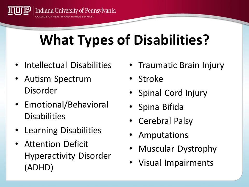 What Types of Disabilities