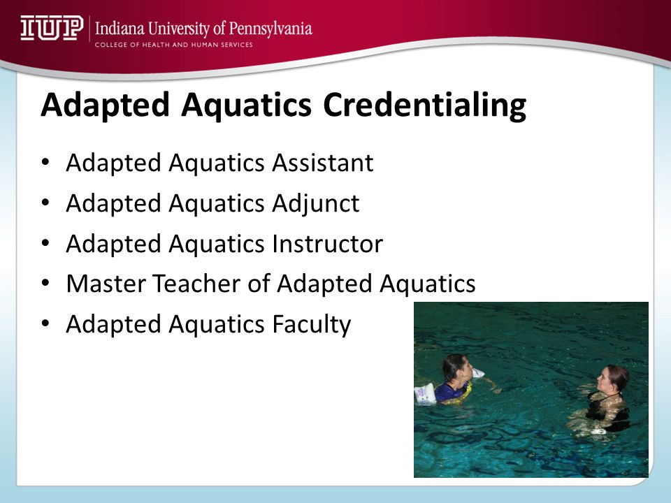 Adapted Aquatics Credentialing