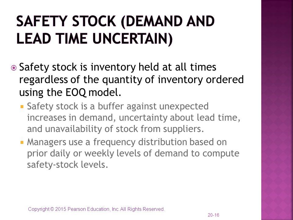 Safety Stock (demand and lead time uncertain)