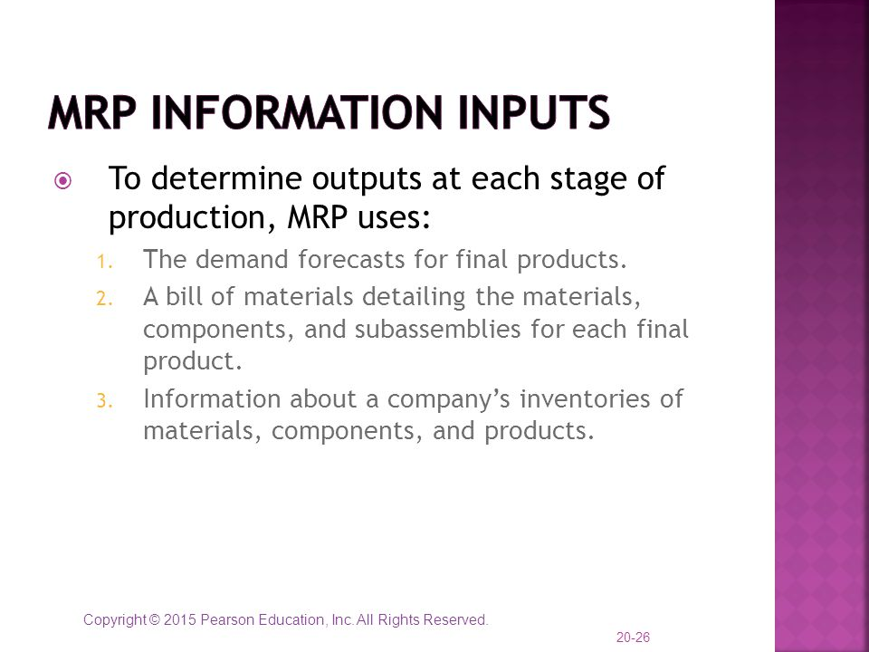 MRP Information Inputs