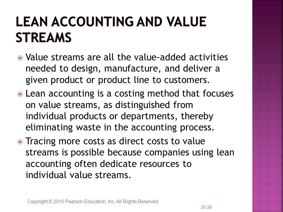 Lean accounting and Value streams