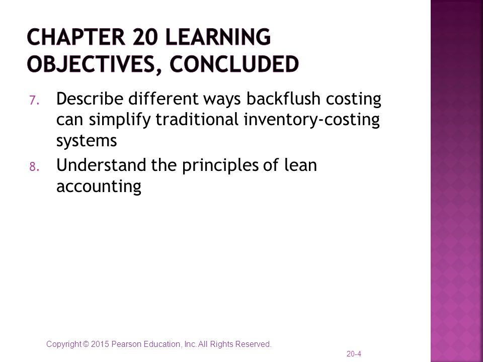 Chapter 20 learning objectives, concluded